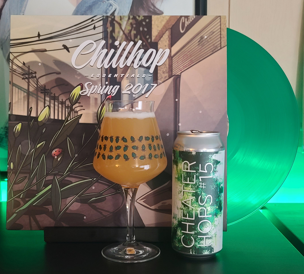 Chillhop Essentials Spring 2017 paired with Sapwood Cellars' Cheater Hops #15