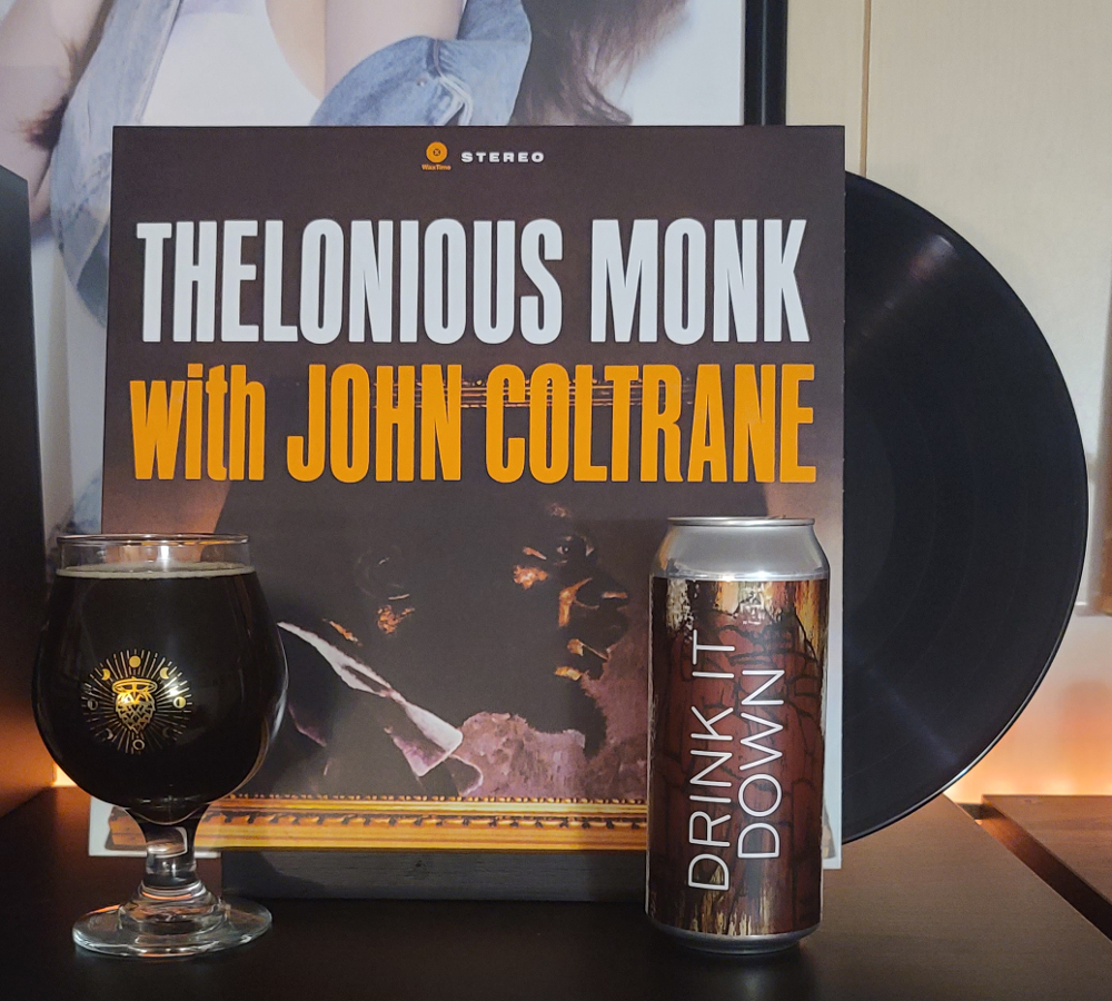 Thelonious Monk with John Coltrane paired with Sapwood Cellars' Drink It Down